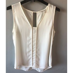 BANANA REPUBLIC White Ivory Small Chiffon Tank